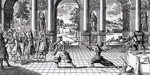 Photo French fencing 1600s