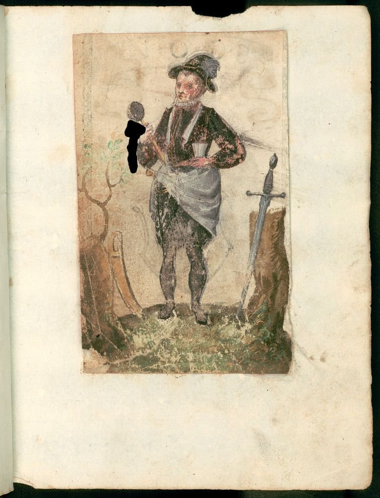 Photo From the Stammbuch of Simon Händl of 1595 Note the