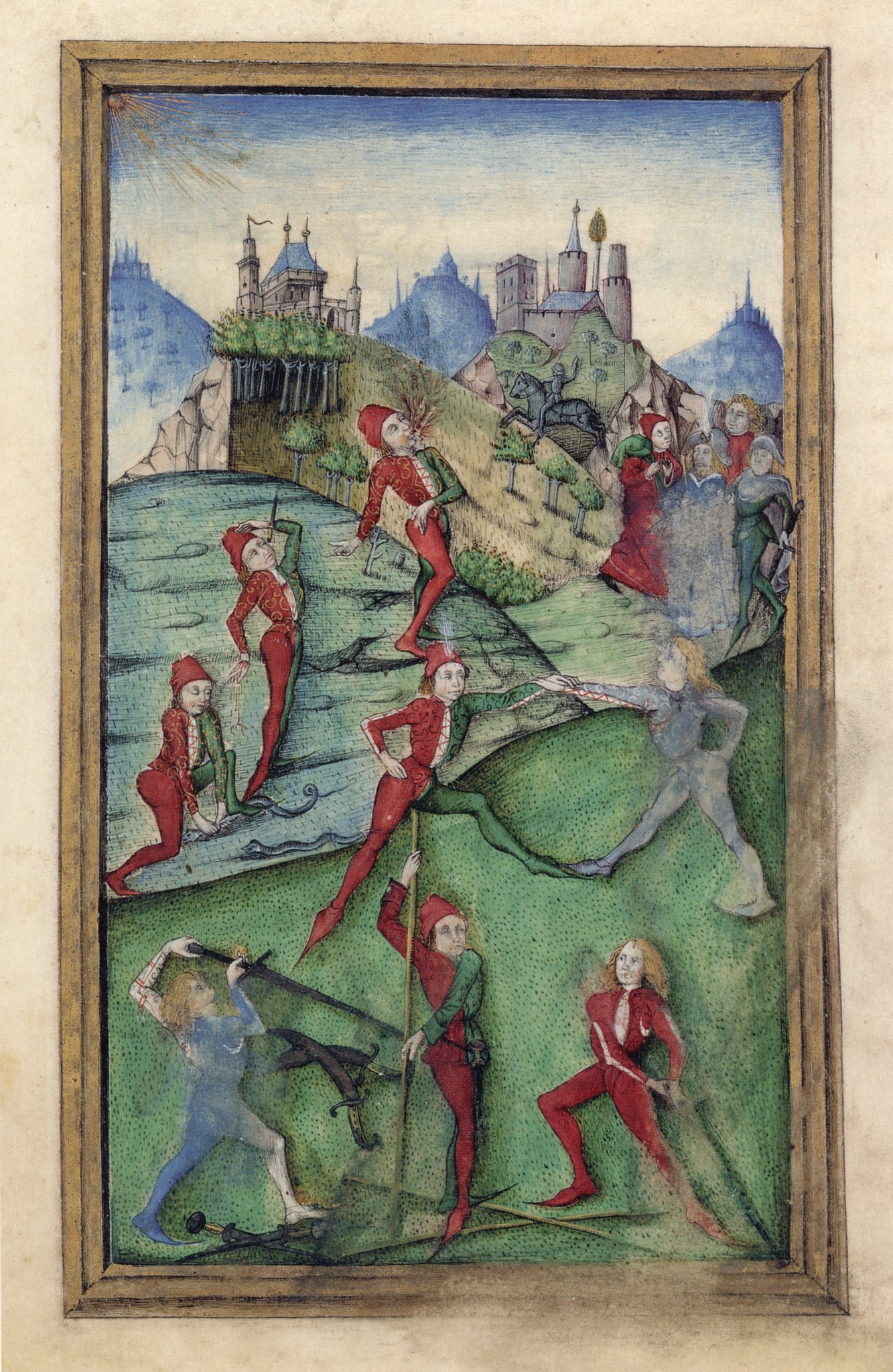Photo The image is taken from Hausbuch Wolfegg from 1480