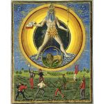 """""""Planetenkinder"""" from the Italian manuscript """"De Sphaera"""", dated to the 1400s."""