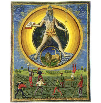 """Planetenkinder"" from the Italian manuscript ""De Sphaera"", dated to the 1400s."