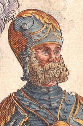 Paul Hektor Mair, from the Geschlechterbuch der Stadt Augsburg of ca 1548. (detail)