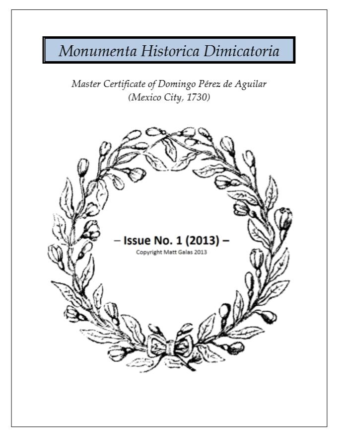 Monumenta Historica Dimicatoria #1